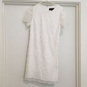 White Lace dress from Nordstrom size 6.